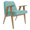 sessel, mobel, wohnen, SESSEL 366 EASY CHAIR LOFT - 366 Concept   366 armchair   Loft 09 Turquoise   Dark Oak 100x100