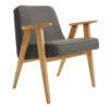 sessel, mobel, wohnen, SESSEL 366 EASY CHAIR TWEED - 366 Concept   366 armchair   Tweed 08 Black   Oak 100x100