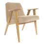 , 366 EASY CHAIR VELVET - 366 Concept   366 armchair   Velvet 01 Sand   Oak 90x90