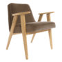 , 366 EASY CHAIR VELVET - 366 Concept   366 armchair   Velvet 02 Taupe   Oak 90x90