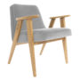 , 366 EASY CHAIR VELVET - 366 Concept   366 armchair   Velvet 03 Mouse Grey   Oak 90x90