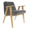 sessel, mobel, wohnen, SESSEL 366 PLUS VELVET - 366 Concept   366 armchair   Velvet 04 Graphite   Oak 100x100