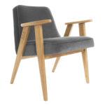 sessel, mobel, wohnen, SESSEL 366 PLUS VELVET - 366 Concept   366 armchair   Velvet 04 Graphite   Oak 150x150