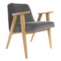 , 366 EASY CHAIR VELVET - 366 Concept   366 armchair   Velvet 04 Graphite   Oak 90x90