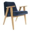 sessel, mobel, wohnen, SESSEL 366 PLUS VELVET - 366 Concept   366 armchair   Velvet 05 Navy Blue   Oak 100x100