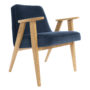 , 366 EASY CHAIR VELVET - 366 Concept   366 armchair   Velvet 05 Navy Blue   Oak 90x90