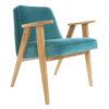 sessel, mobel, wohnen, SESSEL 366 PLUS VELVET - 366 Concept   366 armchair   Velvet 06 Turquoise   Oak 100x100
