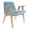 sessel, mobel, wohnen, SESSEL 366 PLUS VELVET - 366 Concept   366 armchair   Velvet 07 Sky Blue   Oak 100x100