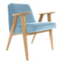 , 366 EASY CHAIR VELVET - 366 Concept   366 armchair   Velvet 07 Sky Blue   Oak 90x90