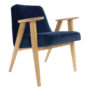 , 366 EASY CHAIR VELVET - 366 Concept   366 armchair   Velvet 08 Indigo   Oak 90x90