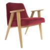 sessel, mobel, wohnen, SESSEL 366 PLUS VELVET - 366 Concept   366 armchair   Velvet 09 Merlot   Oak 100x100