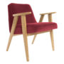 , 366 EASY CHAIR VELVET - 366 Concept   366 armchair   Velvet 09 Merlot   Oak 90x90