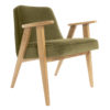 sessel, mobel, wohnen, SESSEL 366 PLUS VELVET - 366 Concept   366 armchair   Velvet 10 Khaki   Oak 100x100