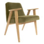 , 366 EASY CHAIR VELVET - 366 Concept   366 armchair   Velvet 10 Khaki   Oak 90x90