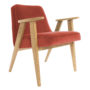 , 366 EASY CHAIR VELVET - 366 Concept   366 armchair   Velvet 11 Chillipepper   Oak 90x90