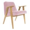 sessel, mobel, wohnen, SESSEL 366 PLUS VELVET - 366 Concept   366 armchair   Velvet 12 Powder Pink   Oak 100x100