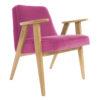 sessel, mobel, wohnen, SESSEL 366 PLUS VELVET - 366 Concept   366 armchair   Velvet 13 Pink   Oak 100x100