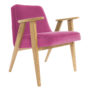 , 366 EASY CHAIR VELVET - 366 Concept   366 armchair   Velvet 13 Pink   Oak 90x90