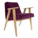 sessel, mobel, wohnen, SESSEL 366 PLUS VELVET - 366 Concept   366 armchair   Velvet 14 Aubergine   Oak 150x150