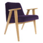 , 366 EASY CHAIR VELVET - 366 Concept   366 armchair   Velvet 15 Purple   Oak 90x90