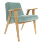 , 366 EASY CHAIR VELVET - 366 Concept   366 armchair   Velvet 16 Mint   Oak 90x90