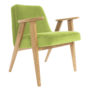 , 366 EASY CHAIR VELVET - 366 Concept   366 armchair   Velvet 18 Light Green   Oak 90x90