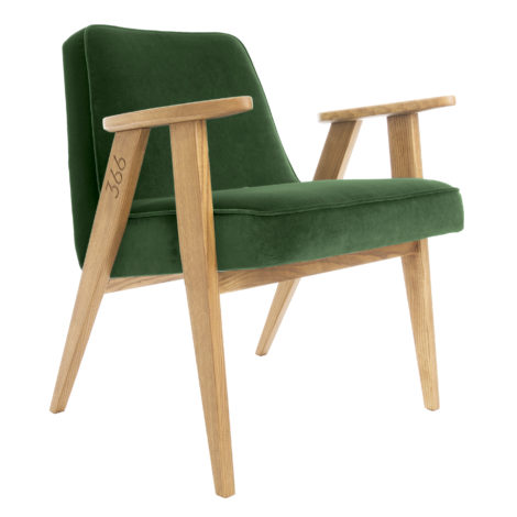 , 366 EASY CHAIR VELVET - 366 Concept   366 armchair   Velvet 19 Bottle Green   Oak 470x470