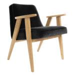 sessel, mobel, wohnen, SESSEL 366 PLUS VELVET - 366 Concept   366 armchair   Velvet 20 Black   Oak 150x150