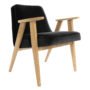 , 366 EASY CHAIR VELVET - 366 Concept   366 armchair   Velvet 20 Black   Oak 90x90