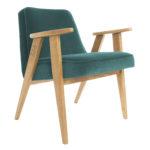 sessel, mobel, wohnen, SESSEL 366 PLUS VELVET - 366 Concept   366 armchair   Velvet 21 Ocean   Oak 150x150