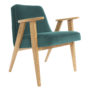 , 366 EASY CHAIR VELVET - 366 Concept   366 armchair   Velvet 21 Ocean   Oak 90x90