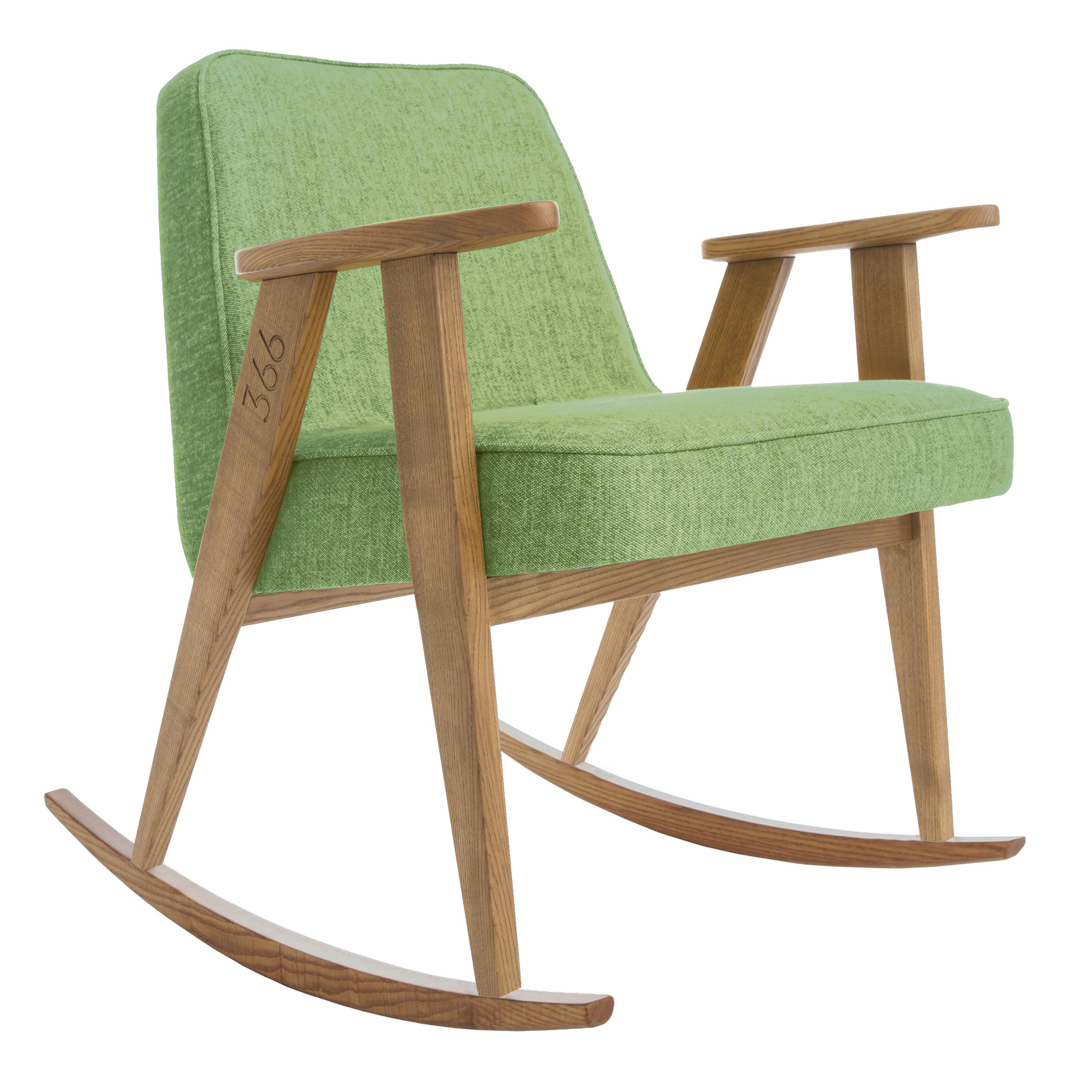 sessel, mobel, wohnen, SESSEL 366 PLUS VELVET - 366 Concept   366 rocking chair   Loft 07 Olive   Dark Oak