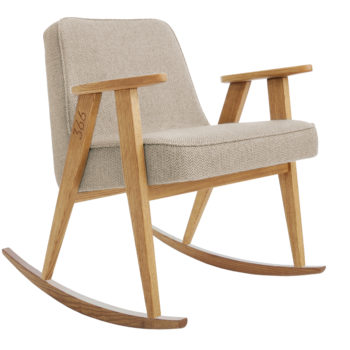 sessel, mobel, wohnen, fussbaenke, FUßBANK FOX | WOOL - 366 Concept   366 rocking chair   Tweed 01 Beige   Oak 350x350