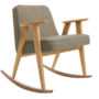 , Schaukestuhl 366 TWEED - 366 Concept   366 rocking chair   Tweed 02 Stone   Oak 90x90