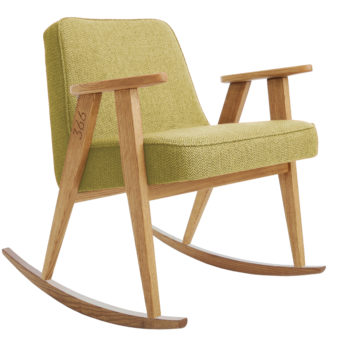 , ROCKING CHAIR 366 PLUS TWEED - 366 Concept   366 rocking chair   Tweed 05 Lemon   Oak 350x350