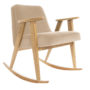 , 366 ROCKING CHAIR VELVET - 366 Concept   366 rocking chair   Velvet 01 Sand   Oak 90x90