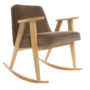 , 366 ROCKING CHAIR VELVET - 366 Concept   366 rocking chair   Velvet 02 Taupe   Oak 90x90