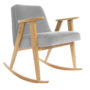 , 366 ROCKING CHAIR VELVET - 366 Concept   366 rocking chair   Velvet 03 Mouse Grey   Oak 90x90