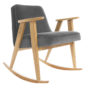 , 366 ROCKING CHAIR VELVET - 366 Concept   366 rocking chair   Velvet 04 Graphite   Oak 90x90
