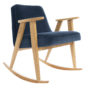 , 366 ROCKING CHAIR VELVET - 366 Concept   366 rocking chair   Velvet 05 Navy Blue   Oak 90x90