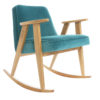armchairs, furniture, rocking-chairs, interior-design, 366 ROCKING CHAIR VELVET - 366 Concept   366 rocking chair   Velvet 06 Turquoise   Oak 100x100