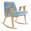 armchairs, furniture, rocking-chairs, interior-design, 366 ROCKING CHAIR VELVET - 366 Concept   366 rocking chair   Velvet 07 Sky Blue   Oak 100x100