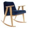 sessel, mobel, wohnen, schaukelstuehle, SCHAUKELSTUHL 366 VELVET - 366 Concept   366 rocking chair   Velvet 08 Indigo   Oak 100x100