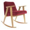 sessel, mobel, wohnen, schaukelstuehle, SCHAUKELSTUHL 366 VELVET - 366 Concept   366 rocking chair   Velvet 09 Merlot   Oak 100x100