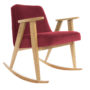 , 366 ROCKING CHAIR VELVET - 366 Concept   366 rocking chair   Velvet 09 Merlot   Oak 90x90