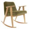 sessel, mobel, wohnen, schaukelstuehle, SCHAUKELSTUHL 366 VELVET - 366 Concept   366 rocking chair   Velvet 10 Khaki   Oak 100x100