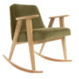 , 366 ROCKING CHAIR VELVET - 366 Concept   366 rocking chair   Velvet 10 Khaki   Oak 90x90