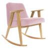 sessel, mobel, wohnen, schaukelstuehle, SCHAUKELSTUHL 366 VELVET - 366 Concept   366 rocking chair   Velvet 12 Powder Pink   Oak 100x100