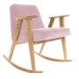 , 366 ROCKING CHAIR VELVET - 366 Concept   366 rocking chair   Velvet 12 Powder Pink   Oak 90x90