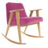 armchairs, furniture, rocking-chairs, interior-design, 366 ROCKING CHAIR VELVET - 366 Concept   366 rocking chair   Velvet 13 Pink   Oak 100x100